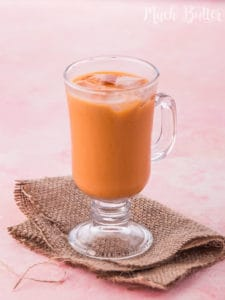 This Thai iced tea recipe is better than stall bought. The taste is balanced between the sweetness, creaminess and the boldness of Thai tea.