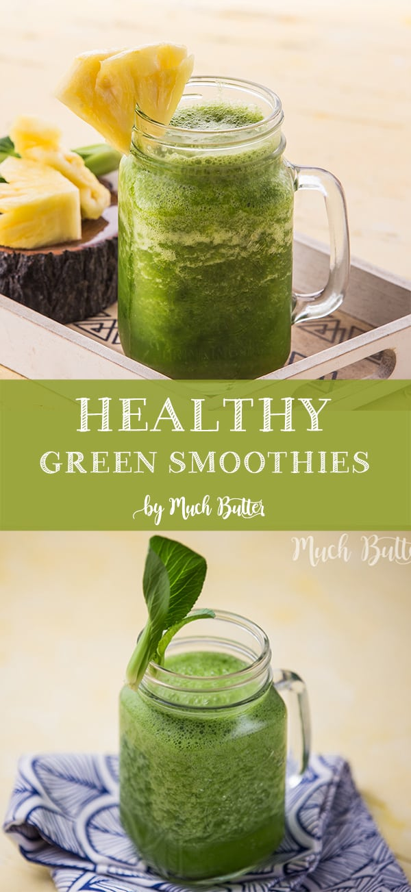 Healthy green smoothies are good for you who are on a diet and easy to make. The ingredients are very simple. For those of you who don't really like vegetables this recipe is good option for you because it doesn't taste like vegetables at all.