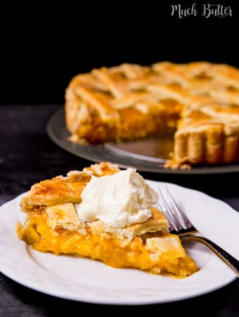 Tired of apple pies? Try this unique mango pie. Buttery crust, fruity & smooth mango filling.