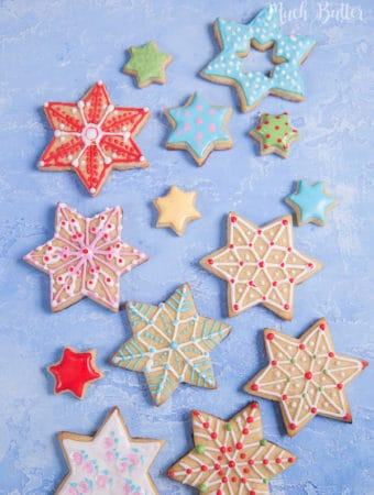 Christmas Star Sugar Cookies. Have you make cookies for Christmas yet? If not you can try make this star sugar cookies at home. So yummy and fun to make.