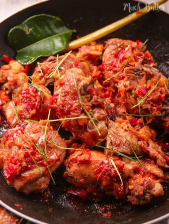 Indonesian spicy chicken or we call it ayam rica-rica is savory and spicy chicken dishes from North Sulawesi. Hearty and satisfying meal who those love spicy foods.