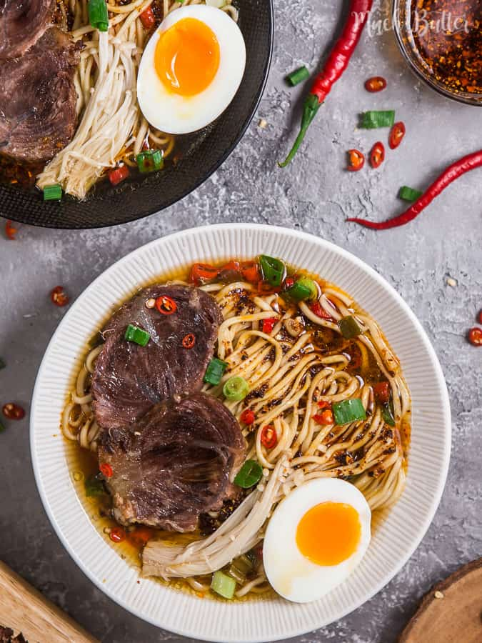 This spicy beef chashu ramen noodles recipe is alternative for people who eat halal or kosher food but want to enjoy delicious ramen.