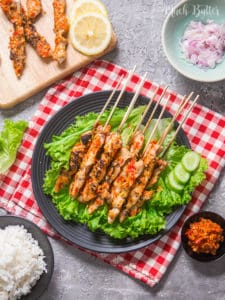 Spicy Taichan Satay is one of viral dish from Indonesia since 2016. Try this spicy and refreshing recipe! It's suitable for you who doing Keto diet.