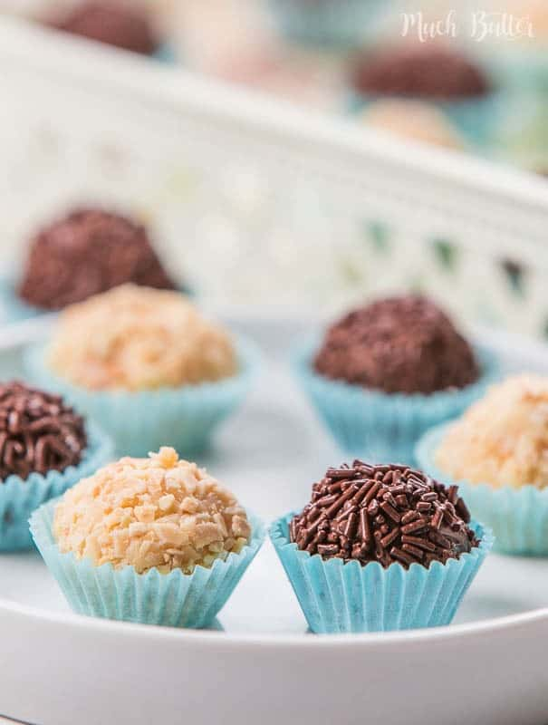 Almond And Chocolate Brigadeiro Brazilian Dessert Much Butter