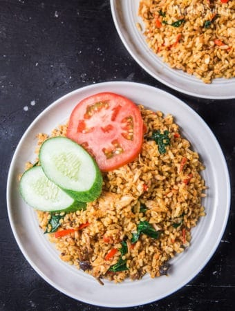Nasi Goreng or fried rice is one of Indonesia's national cuisines. Nasi goreng is second place on the list of '50 Deliciousest Foods in the World' after rendang.