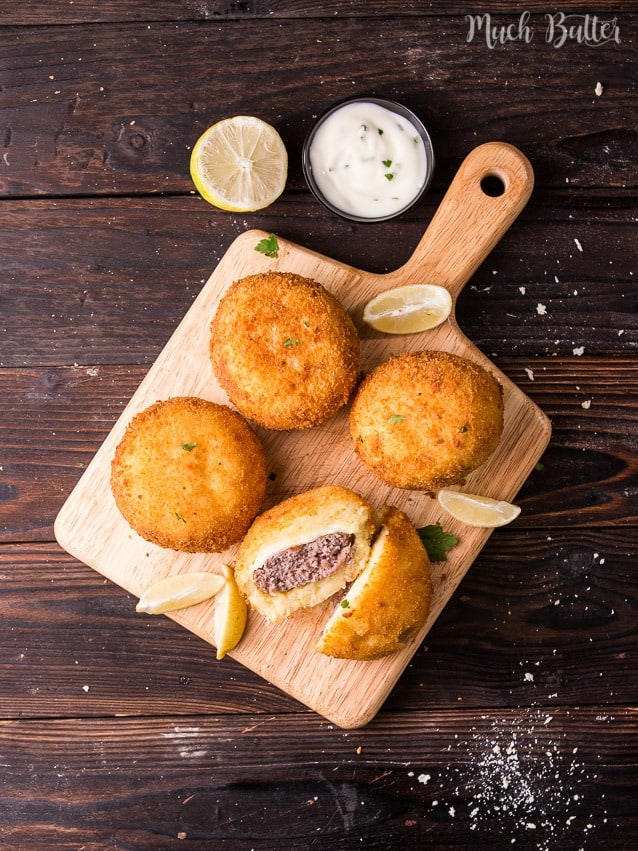 Beef potato croquettes are Indonesian fried potato patties. This recipe is made of mashed fried potatoes and then mixed or filled with ground beef.