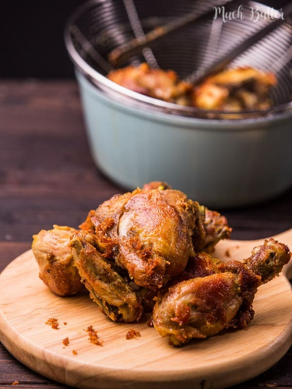 Indonesian fried chicken or ayam goreng is everyone's favorite dish in my home. The skin so crispy and the chicken is flavorful to the bone.