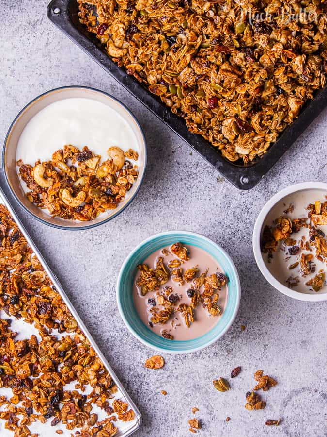 easy, simple, sweet, tasty, and delicious granola combination