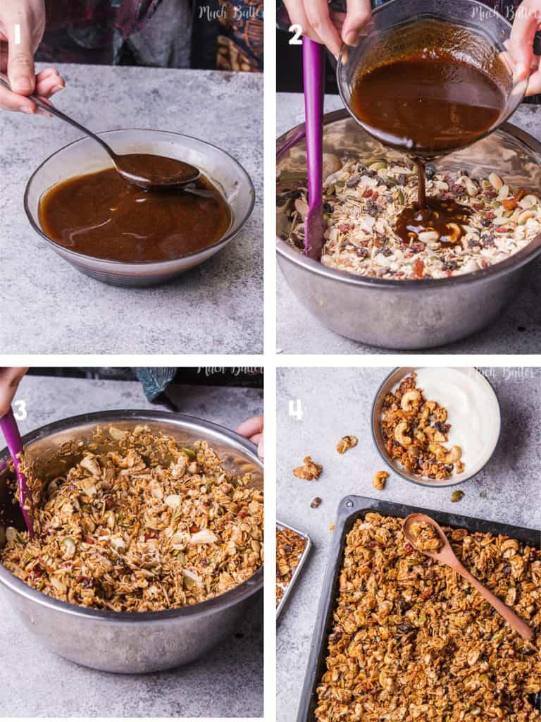 the steps how to make granola