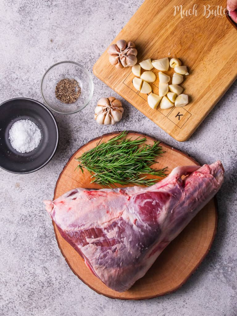 The Ingredients of Caramelized Roast Leg of Lamb