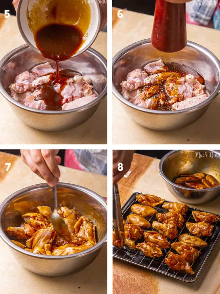 The Steps How to Make Baked BBQ Chicken Wings