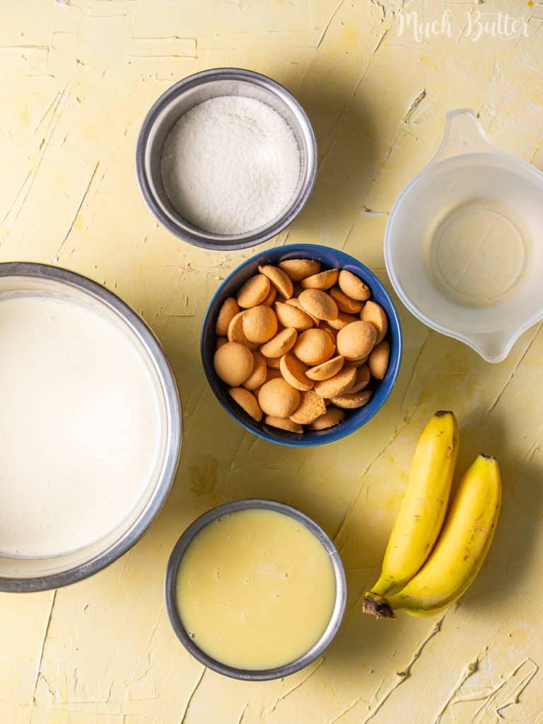 Ingresients of Magnolia Bakery Banana Puddding
