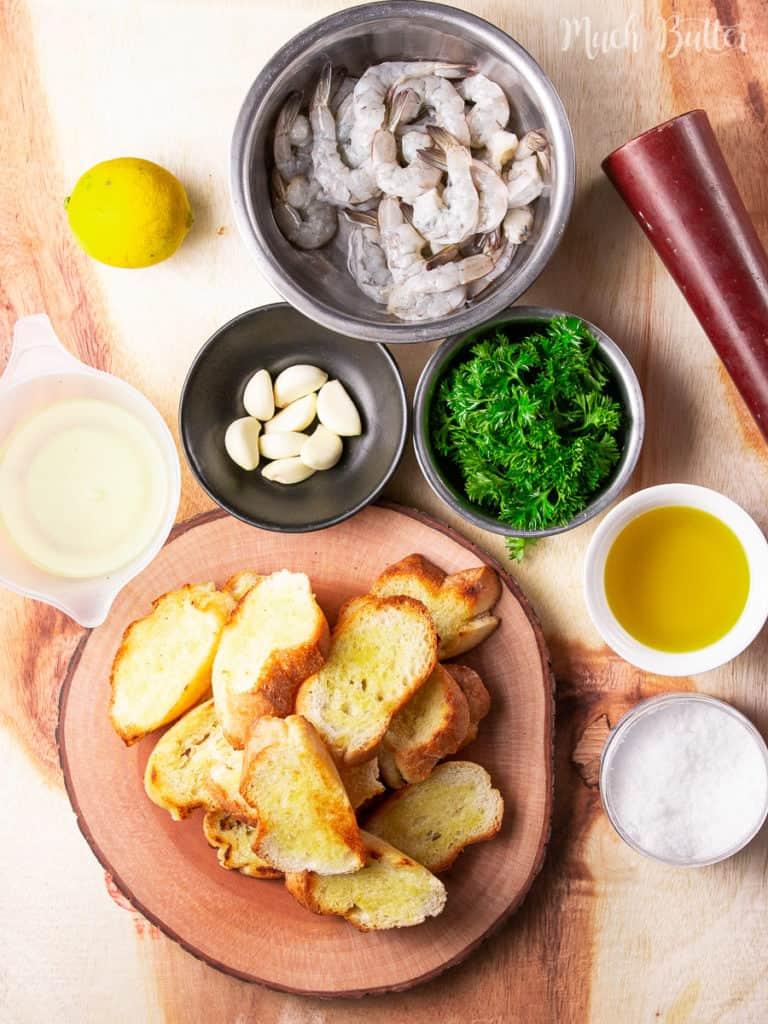 The Ingredients of Gambas Al Ajillo (Spanish Garlic Shrimp)
