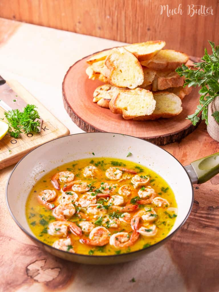 Do you want an easy unique appetizer? Let's make popular Gambas al Ajillo or Spanish Garlic Shrimp. It is a classic tapas dish in Spain. It consists of succulent shrimp with a spicy and garlicky sauce. Perfect with some crusty bread!