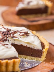 Rich, decadent, and creamy chocolate tart! It is easy to prep for your best homemade dessert. No one can't argue the combination of pastry crust and chocolate filling. It is so yummy even in a bite!