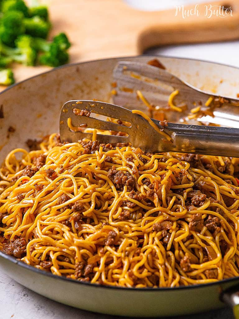 Easy and budget-friendly Beef Ramen Stir Fry Recipe for your quick meal! Inspired by the Mongolian Beef recipe, it uses ramen noodles, ground beef, vegetables, and a savory stir fry sauce. It is a simple and fast flavor-packed menu to enjoy with family after busy days.