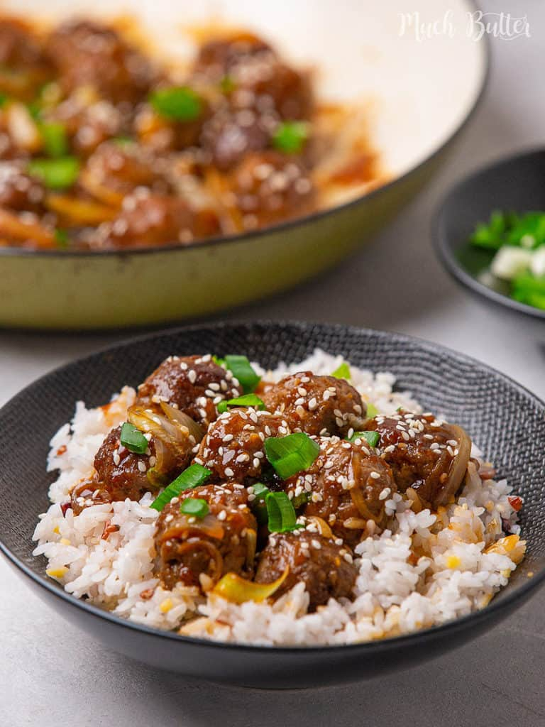 Bring the taste of Korean BBQ beef dish, make Korean beef bulgogi meatballs at home. The juicy ground beef with savory, spicy, and sweet sauce make a tasty Korean-style meatball recipe to make you enjoy your mealtime. Serve it with steamed rice for a full flavorful meal!