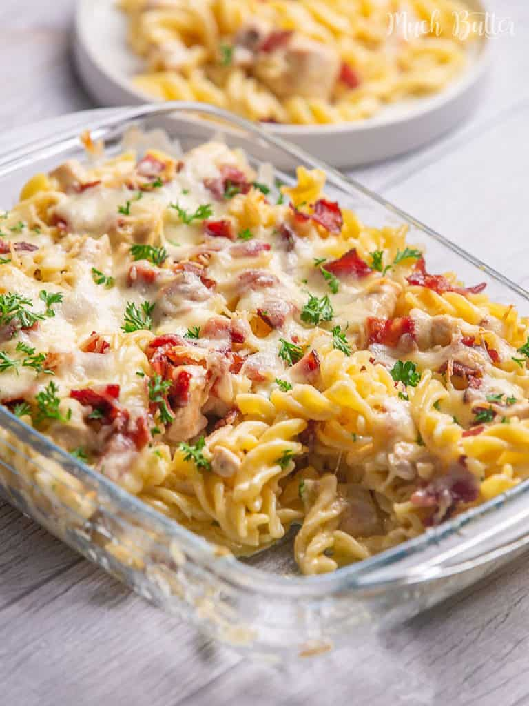 What to cook for dinner? Chicken bacon ranch casserole is the solution! It has a perfect combination of creamy, cheesy, and smoky flavor
